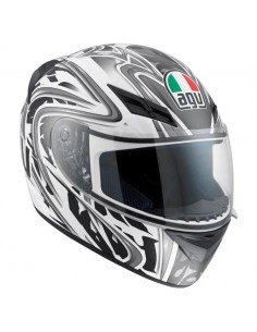 CASCO MOTO INTEGRALE AGV K-3 MULTI WIRE WHITE/GUN METAL TAGLIA XL 0321A290-029-10 AGV