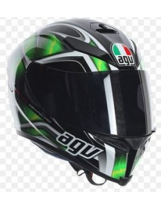 fe5c52d155847 CASCO K-5 S HURRICANE BLACK GREEN WHITE S PIN AGV