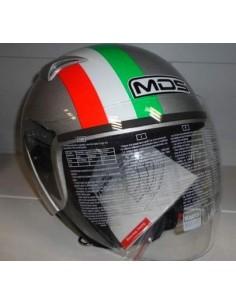 01cffba5b581b CASCO MOTO JET MDS G240 SILVER ITALY TG S